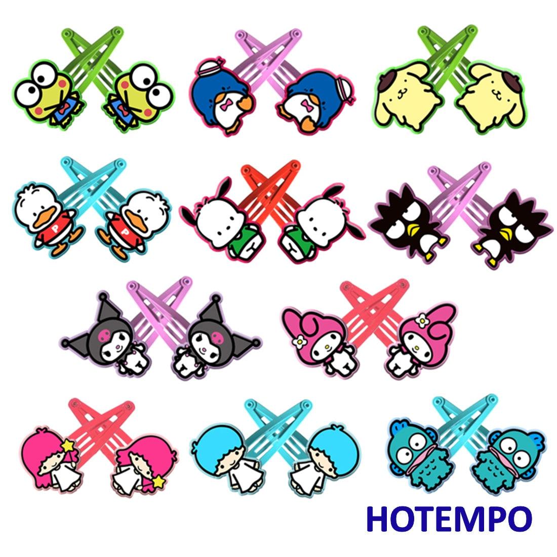 Japan Cute Cartoon Kerokero Keroppi Baby Girl Hair Accessories Kawaii Frog Hairpins Elastic Hair Bands Hair Clip For Kids Gift