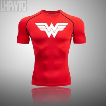 Wonder Woman Men's full Suit Compression Sport Suit Gym joggers Running Short sleeve Shirts leggings Basketball sportwear 24