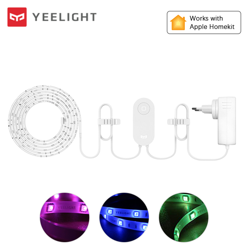 Yeelight Aurora Smart Light Strip Plus 2m LED RGB WiFi APP Mijia Smart Home Decor Light Work with Alexa Google Assistant Homekit(China)