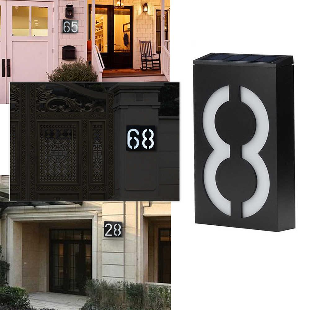 Светодиодный светильник на солнечной энергии знак Дом отель дверь адрес табличка номер табличка с цифрами лампа открытый домашний настенный светодиодный новый