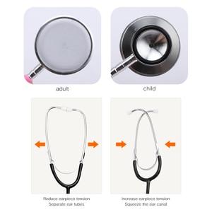 Image 3 - Профессиональный стетоскоп помощи двойной головкой стетоскоп портативный медицинский для доктора аускультационное оборудование инструменты Прямая поставка