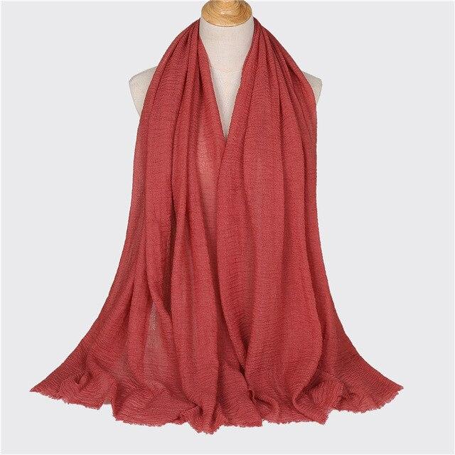 Cotton Linen Women Hijabs...