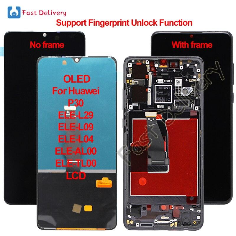 OLED для Huawei P30, ЖК-дисплей, сенсорный экран, дигитайзер в сборе, OLED для Huawei ELE-L29 ELE-L09 ELE-L04 ELE-AL00, LCD