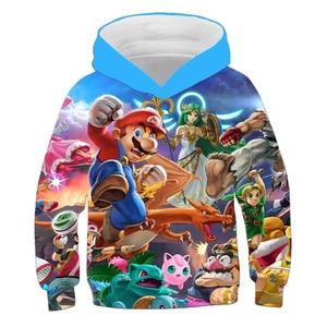 Mario Hoodie Children Hoodie Sweatshirts For Baby Boys Clothes Girls Tops Sonic Hoodie Pullover Kids Clothing Boy Costume Teen