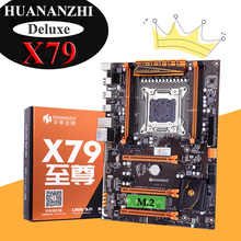 HUANANZHI X79 Deluxe משחקי האם עם NVMe M.2 SSD חריץ 4 DDR3 RAM מקסימום עד 128G לקנות מחשב חלקי 2 שנים אחריות