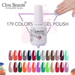 Clou Beaute 15 ML 179 Color Gel Nail Polish Bargain sale UV LED Semi Permanent Nail Polish Varnish Hybrid Lacquer Resin Gel Glue