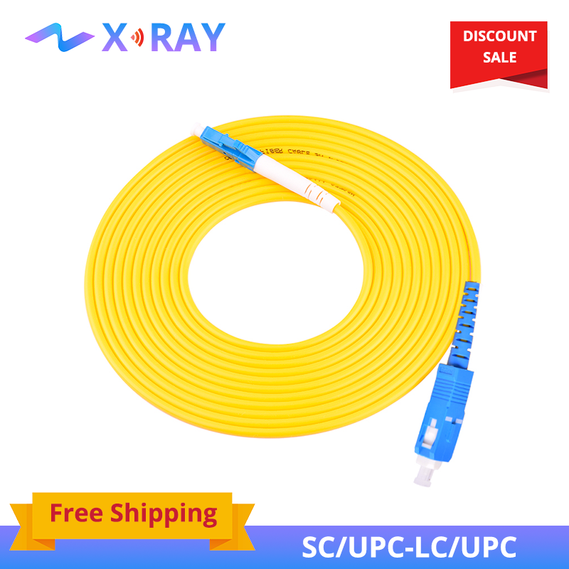 5PCS/bag SC/ UPC-LC/ UPC Simplex Mode Fiber Optic Patch Cord Cable 2.0mm Or 3.0mm FTTH Fiber Optic Jumper Cable