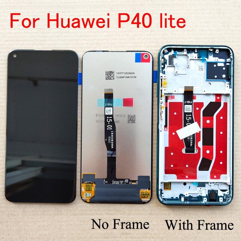 Оригинальный 6,4 дюймов для Huawei P40 lite P40lite JNY-L22 JNY-L21 JNY-LX1, ЖК-дисплей, сенсорный экран, дигитайзер, для сборки/с рамкой