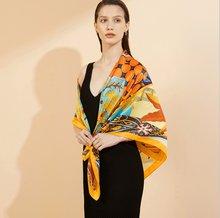 Новый женский большой размер 110 см шелковый креп сатин брендовый