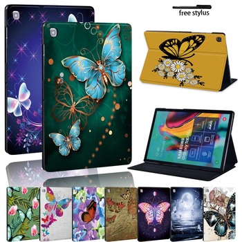 Butterfly Leather Stand Tablet Cover Case for Samsung Galaxy Tab A A6 /Tab E S5E Durable Tablet PC Protective Case Shell for samsung galaxy tab s3 9 7 t820 t825 tablet smart cover tab s3 t820 9 7 inch leather cover case protective stand skin fundas