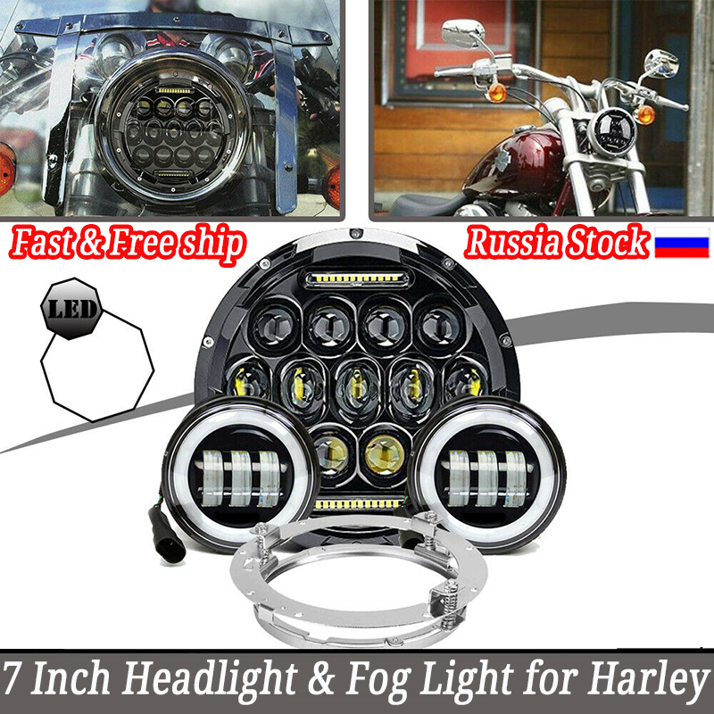 <font><b>3</b></font> in1 LED 7inch 75W Motorcycle Headlight 4.5