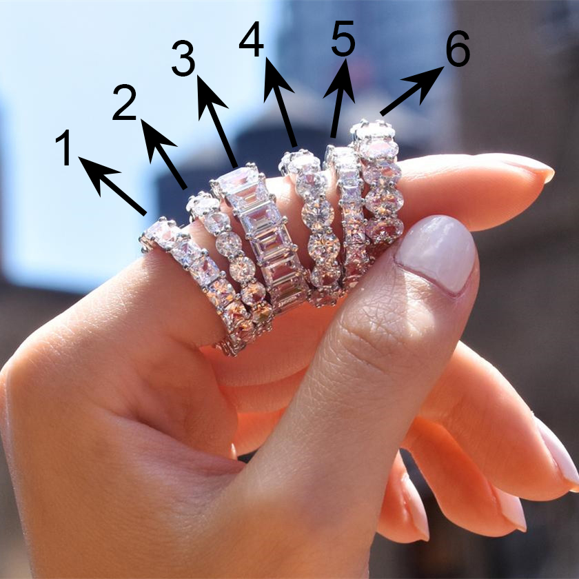 Huitan Gorgeous AAA Cubic Zirconia Promise Rings for Women 6 Styles Available Noble Wedding Jewelry Ring for Girl Fine Gift Ring