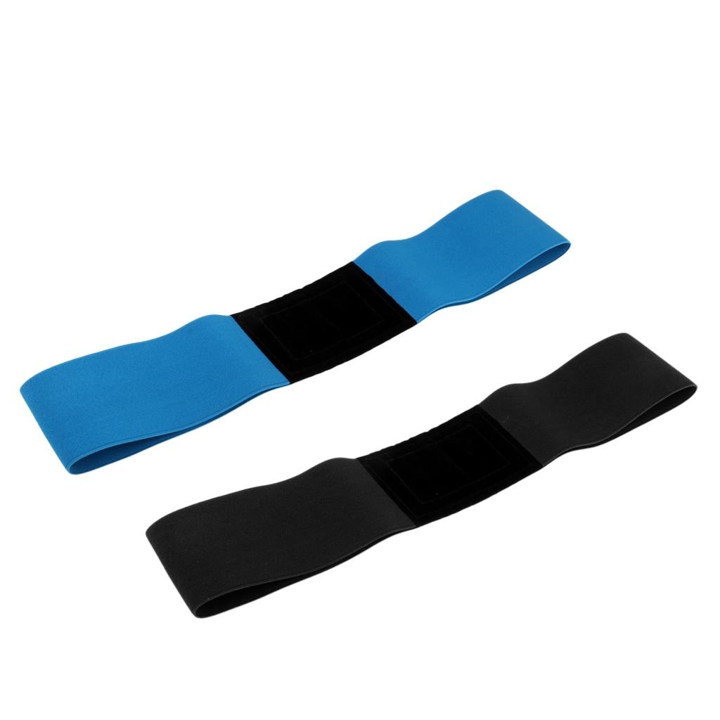 Professional Unisex Golf Swing Training Aid Arm Band Wrist Corrector For Golfer Beginners - Blue/Black