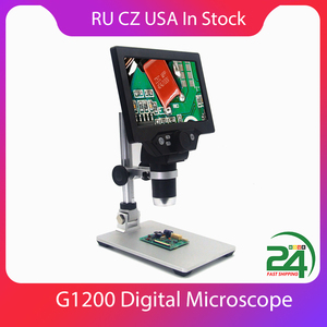 Image 1 - KKMOON G1200 12MP 1 1200X Digital Microscope for Soldering Electronic 500X 1000X Microscopes Continuous Amplification Magnifier