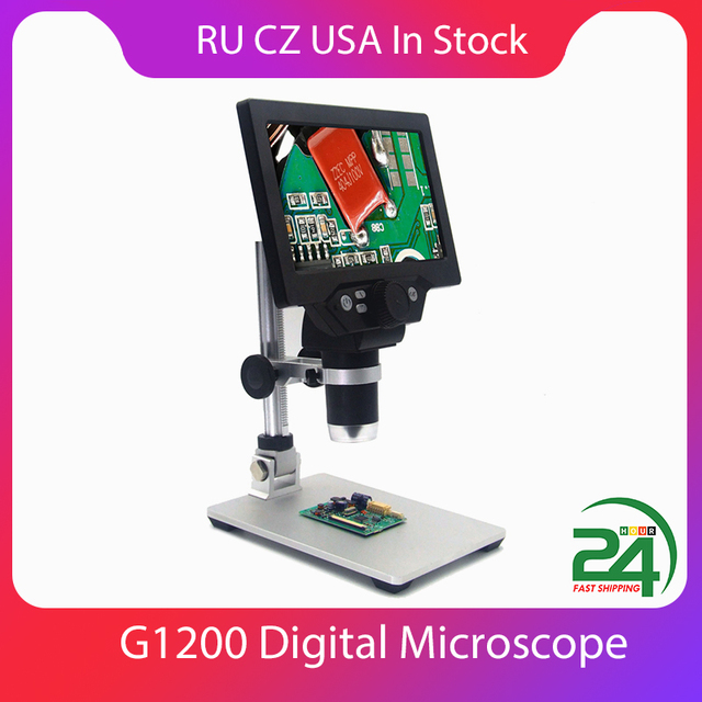 KKMOON G1200 12MP 1 1200X Digital Mikroskop für Löten Elektronische 500X 1000X Mikroskope Kontinuierliche Verstärkung Lupe
