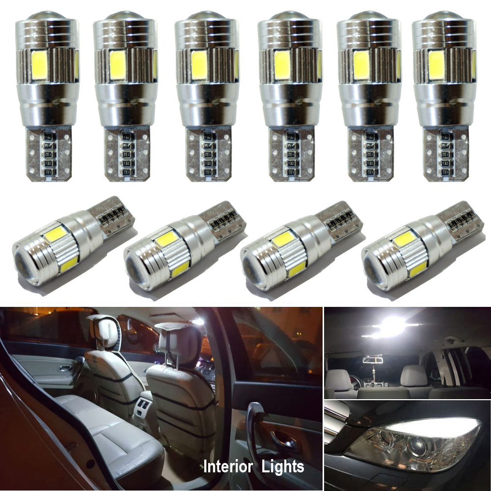 10x W5W canbus T10 <font><b>LED</b></font> Interior Car Lights For Opel <font><b>Astra</b></font> H <font><b>J</b></font> G Corsa D C Insignia Vectra B Zafira Mokka Meriva for auto 12V image