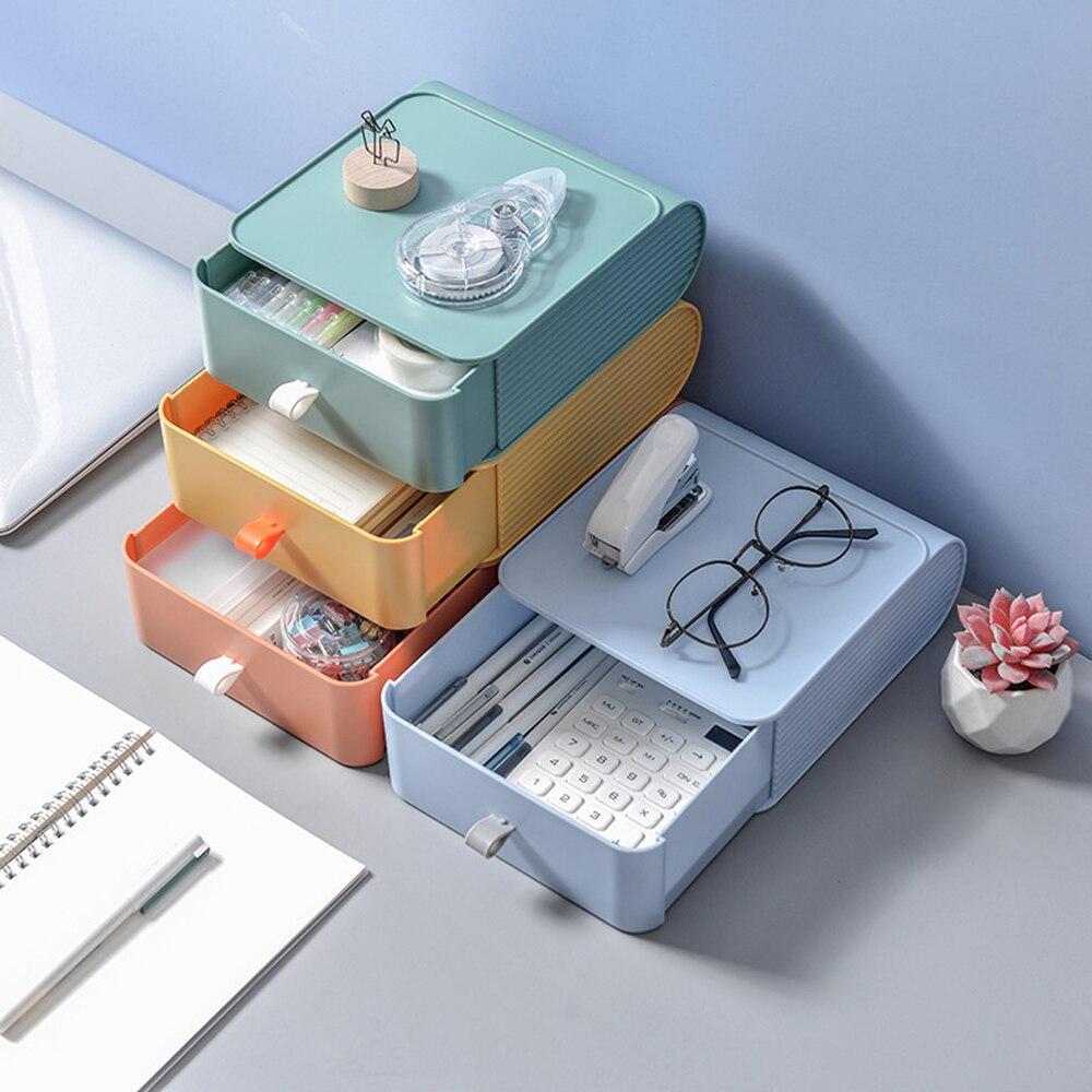 Pequena caixa de armazenamento multi-camada de acabamento de mesa armário de armazenamento de dormitório tipo gaveta de rack de mesa organizador de mesa de cozinha