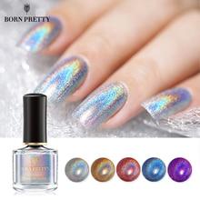 Born pretty, голографическая Лазерная лак для ногтей 6 мл Лак серии Flowish Сияющий Блестящий лак для ногтей