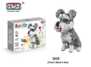 Image 3 - ZMS Jack Russell Terrier Pet Dog Animal 3D Model DIY Micro Diamond Mike Husky dog Mini Blocks Bricks Assembly Toy Gift