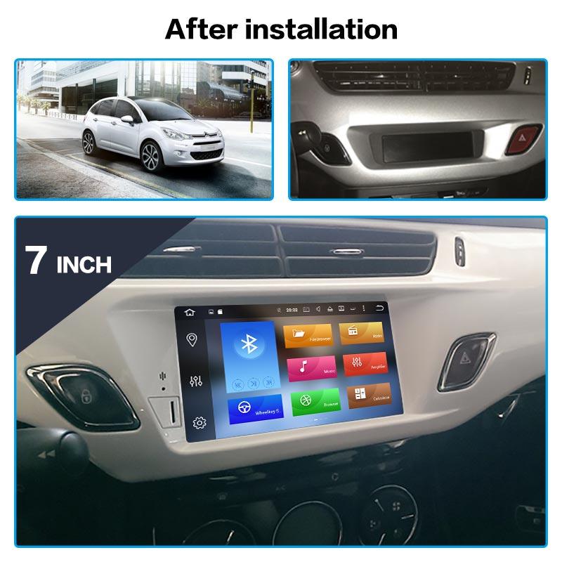 Android 9,0 4G 64GB Auto DVD Player GPS Glonass Navigation für Citroen C3 DS3 2010-2016 Auto radio Coche Stereo Multimedia Player