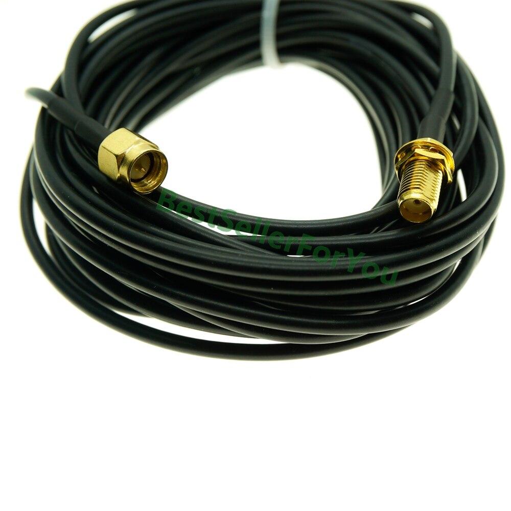 1/2/3/5/6/8/10 m sma conector macho para sma conector fêmea wi-fi antena conector lote extensão rg174 cabo