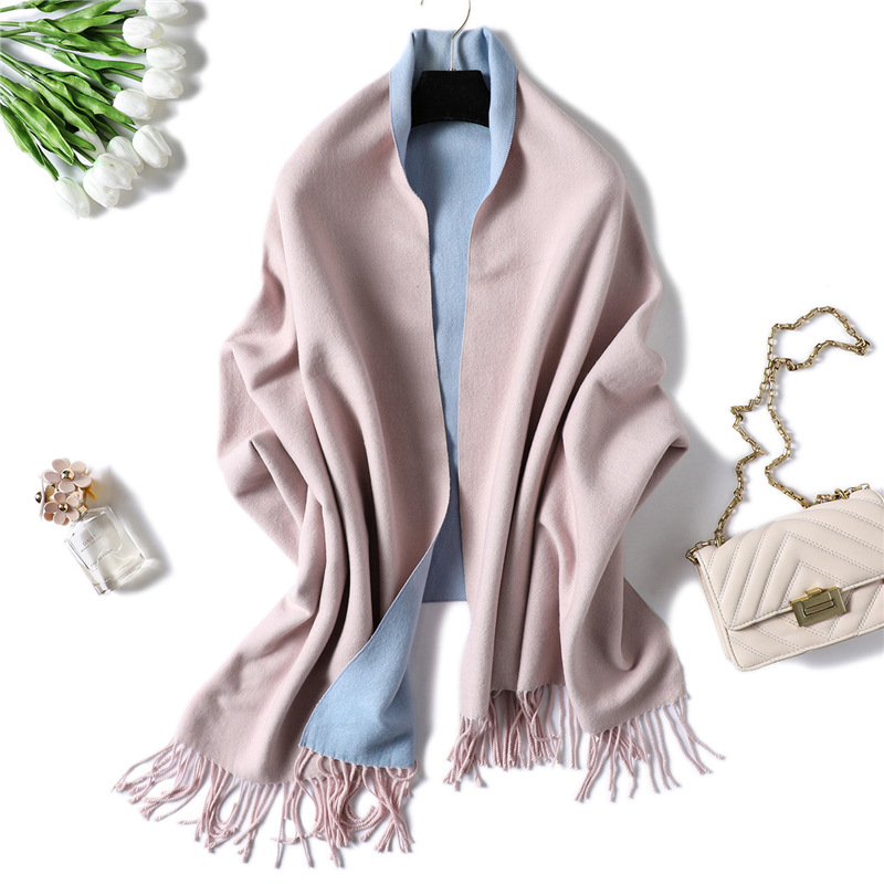 2019 New Women's Winter Scarf Cashmere Wool Scarves Shawls Soft Solid Wool Pashmina For Women Winter Warm Female Poncho Stoles