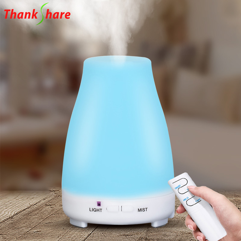 THANKSHARE Ultrasonic Air Humidifier Remote Control Aroma Essential Oil Diffuser 200ml Aromatherapy Cool Mist Maker For Home SPA