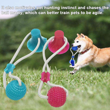 dog toy ball pet toy bite resistant sound making elastic ball large dogs molar golden retriever teddy tooth cleaning training ba Multifunction Pet Molar Bite Toy With Suction Cup Dog Push Toy TPR Ball Pet Tooth Cleaning Chewing Rubber Ball Dog Toys