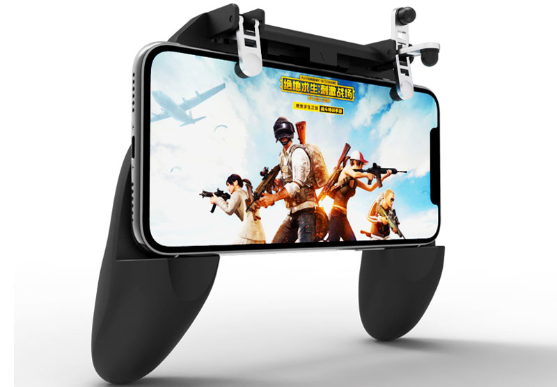 W10 Pubg Mobile Game Controller Gamepad for Huawei Xiaomi Samsung Iphone 8 Xr Xs 7 Gaming Fan L1r1 Trigger Fire Button Joystick