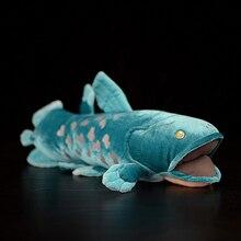 38см рыбы длинные реалистичные пушистый Латимерия морской моделирования плюшевые игрушки чучела животных плюшевые игрушки мягкие ради палившие для детей