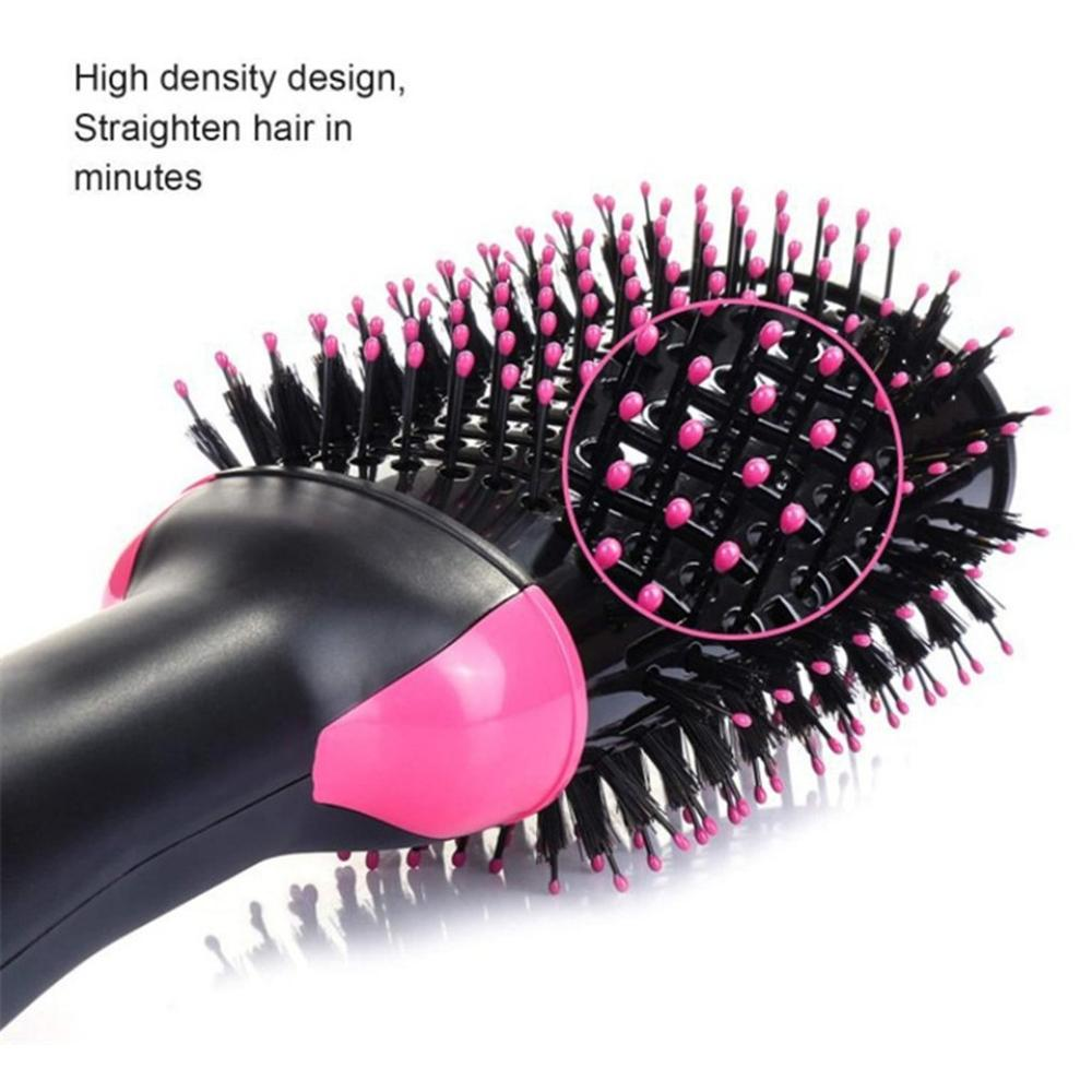Купить с кэшбэком Hairdressing Tools Multi-Functional Hair Comb Personal Care Hot Air Negative Ion Styling Brush Straight And Dual-Purpose Comb