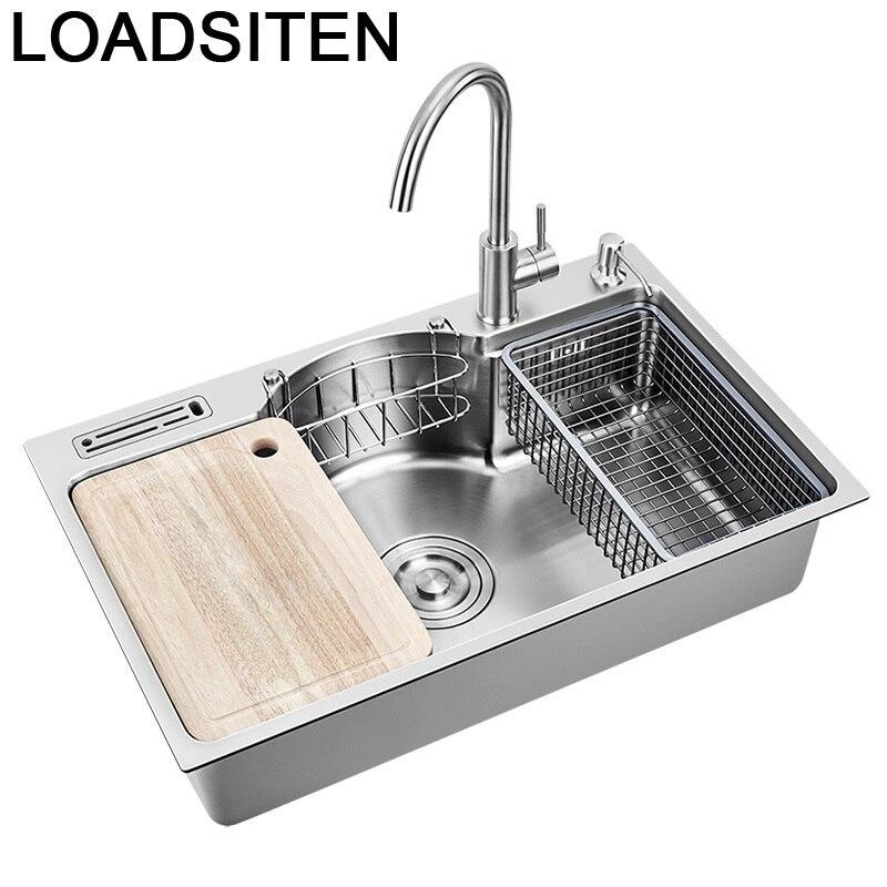 Umywalka Cuba Banheiro Afwasbak Keuken Gootsteen Inoxidable Kitchen Fregadero De Cocina Lavabo Pia Cozinha Dishwash Sink