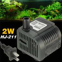 2W HJ211 Submersible Pump Aquarium Fish Tank Powerhead Fountain Water Hydroponic 220-240V/50Hz 200L/h Pump For Garden Watering
