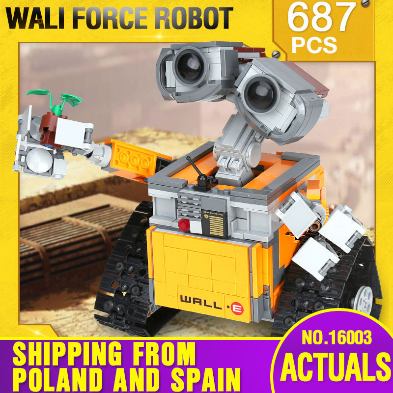 From Spain DHL 16003 Idea Robot The 21303 WALL E Building Set Kits Toys Bricks Blocks Bringuedos Toys For Children DIY Gifts
