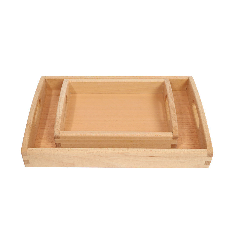 Wooden Pallet Tray For Classroom Collection Montessori Materials Home And Kitchen Supplies