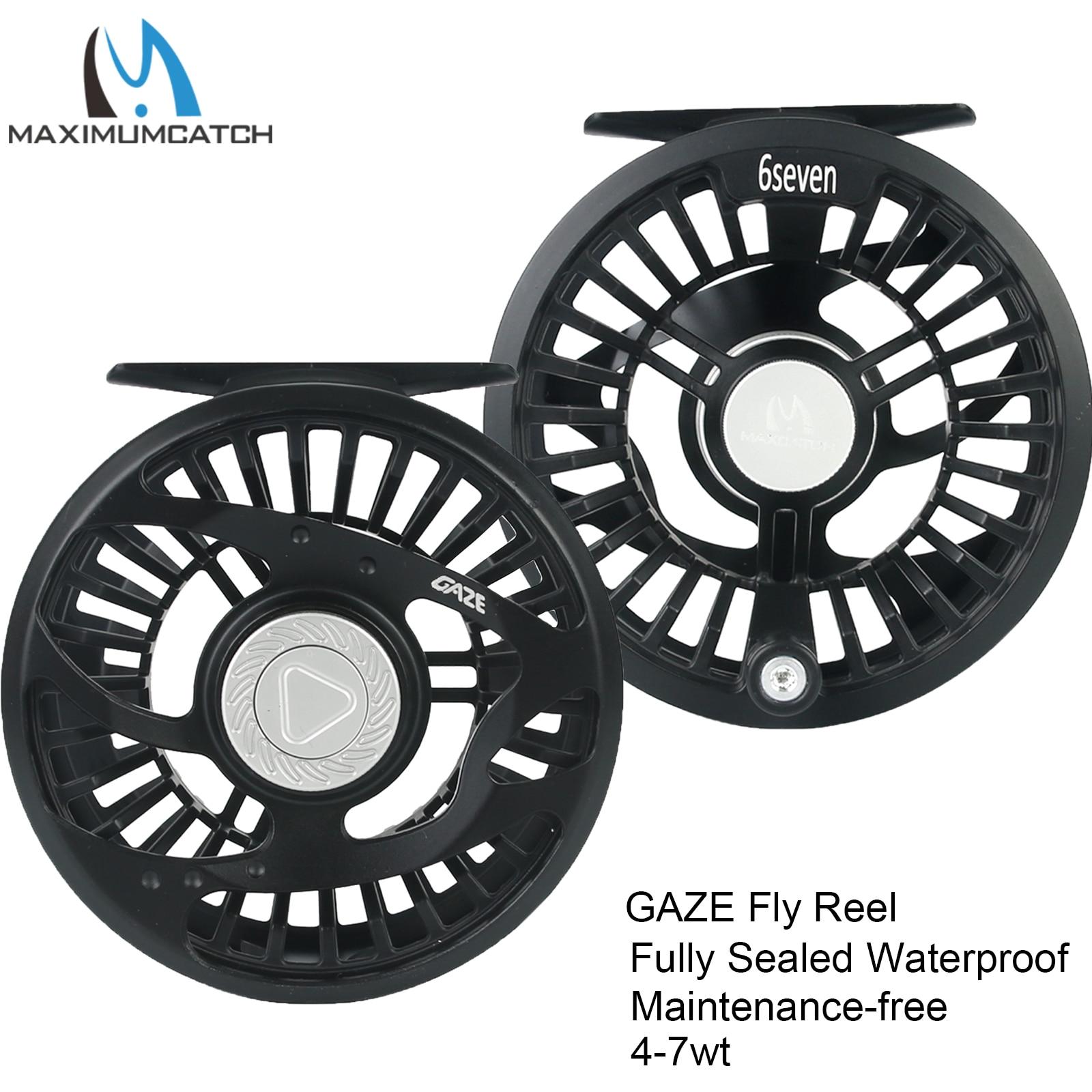 Maximumcatch Maxcatch GAZE 4-7WT Trout Light Weight Fly Fishing Reel Waterproof Sealed Drag Fly Reel