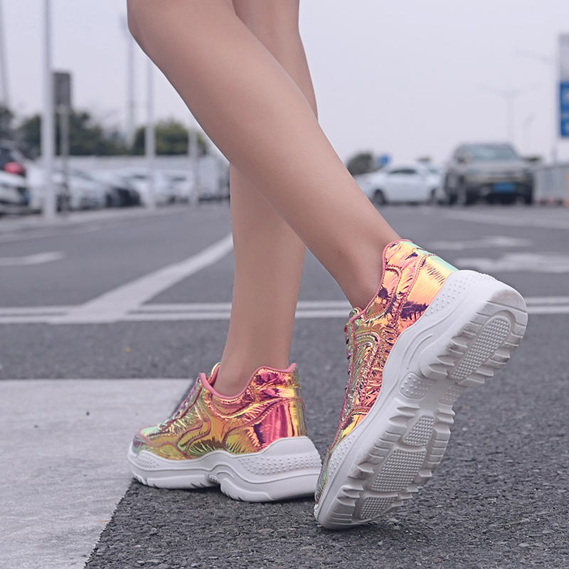 HY 2020 Hot Sale Women Sneakers Breathable Fashion Casuals Height Increasing Female Ladies Shoes