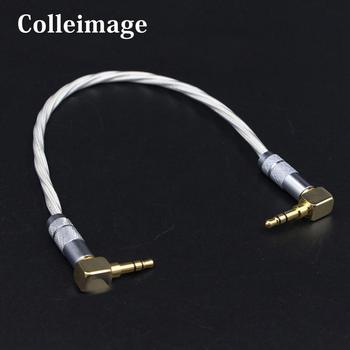 Colleimage Hifi One piece Audio Cable 3.5 to 3.5mm Headphone Amp Interconnects 3.5mm Audio Stereo Cable