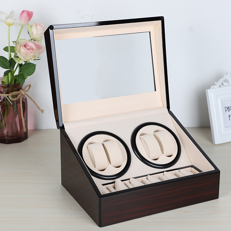 Automatic Mechanical Watch Winders Storage Box Case Holder 4+6 Collection Watch Display Jewelry Winder Box