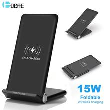 DCAE 15W Snelle Draadloze Oplader Stand QI Charging Pad Dock Station voor iPhone 11 XS XR X 8 Airpods samsung S10 S9 S8 Quick Lading