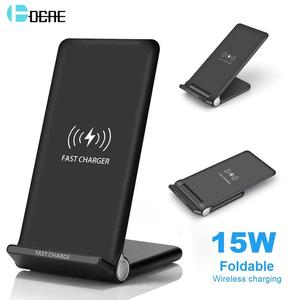 Image 1 - DCAE 15W Snelle Draadloze Oplader Stand QI Charging Pad Dock Station voor iPhone 11 XS XR X 8 Airpods samsung S10 S9 S8 Quick Lading