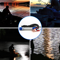 Boat Docks 180 LED Attract Night Bright Outdoor Waterproof 8W Submersible Finder Fishing Light Underwater Easy Use|Fishing Tools| |  -