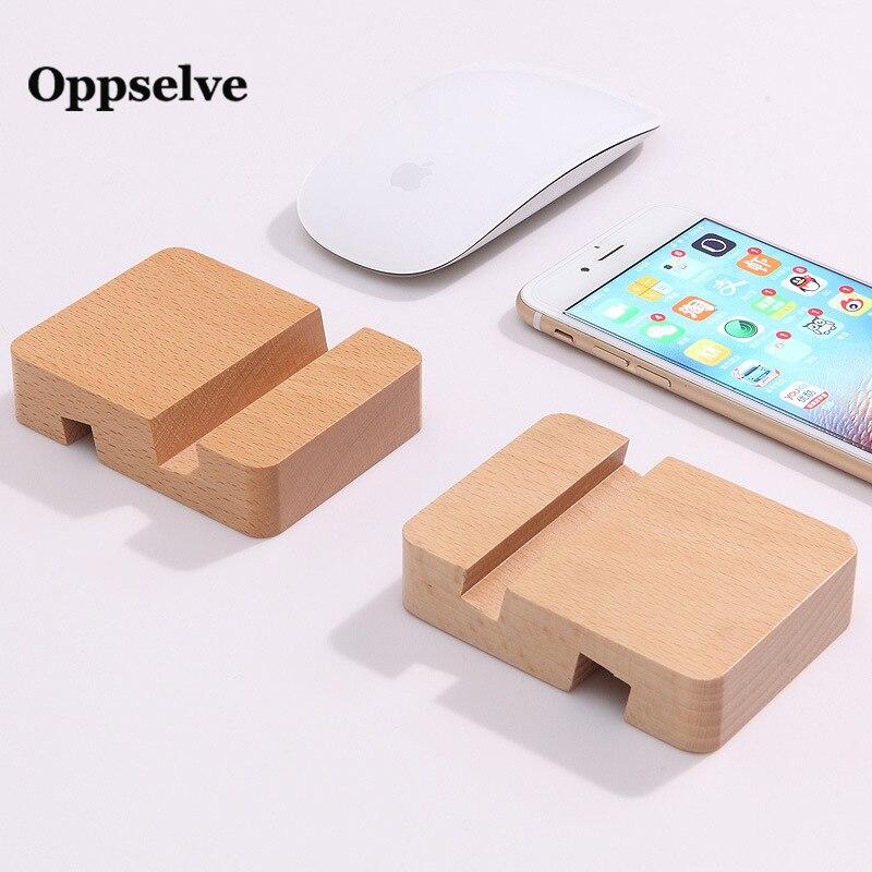 Oppselve Universal Wooden Desk Phone Holder Multi-function Phone Mount Desktop Rack For iPhone Xiaomi Huawei Cellphone Bracket