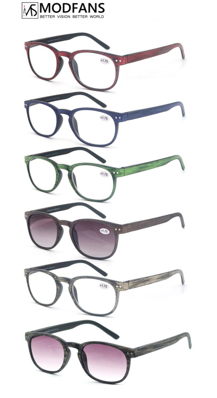 Очки для чтения для мужчин и женщин, деревянные, коричневые, синие, бордовые, зеленые, с пружинной петлей, с диоптриями от + 0,5 + 5,0