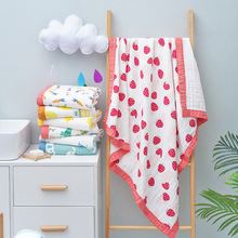 Imebaby baby blanket bath towel 110 * 110 six layers of pure cotton muslin newborn sw blanket, blanket, wrap blanket, bedding