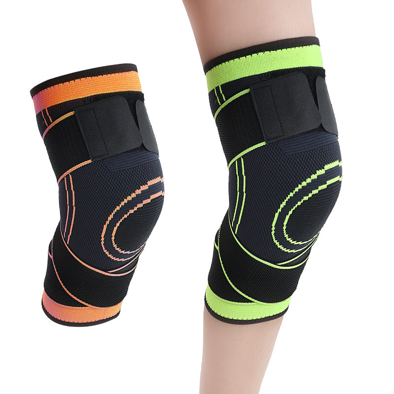 Pressure Winding Knitted Sports Running Basketball Riding Fitness Breathable Winding Protective Clothing Winter Sports Kneecaps
