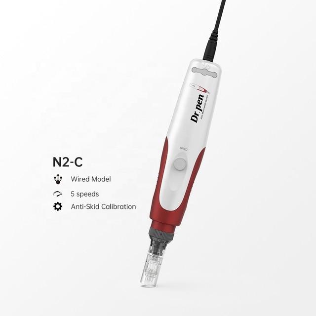 بطارية قابلة للشحن Dr.pen N2-C الكهربائية إبرة مجهرية ديرما المتداول ختم الطبية MTS الإبر القلم 4