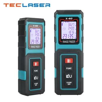 TECLASER Laser Tape Measure Laser Rangefinder Laser Distance Meter Laser Meter Digital Range Finder Ruler Roulette Measure Tools