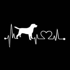 Image 4 - Labrador Retriever Heartbeat Love Decal Car Sticker Creative Auto Accessories
