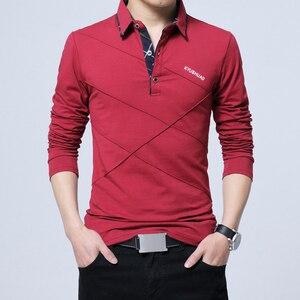 Image 5 - BROWON Offre Spéciale T shirt hommes T shirt Long à rayures rabattues T shirt design coupe mince décontracté coton T shirt mâle grande taille